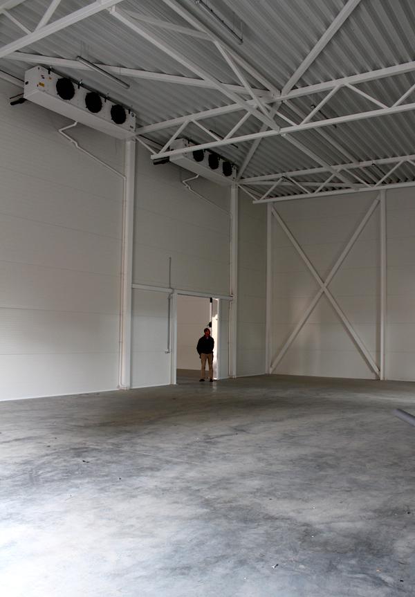 Zwei Kühlräume bildet das Herzstück der Halle.